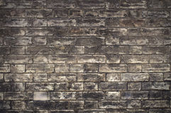 Old black brick wall. Vintage style Royalty Free Stock Photography