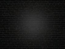 The old dark black brick wall texture royalty free stock image