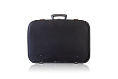 Old black brief case Stock Photos