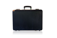 Old black brief case Royalty Free Stock Photo