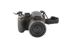 Old black camera dusty. Royalty Free Stock Image