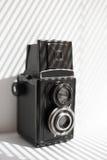 Old black camera Stock Photos