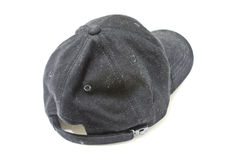 Old black cap dirty Royalty Free Stock Photos