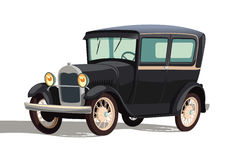 Old black car. Illustration Stock Photos
