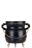 Old black cauldron Royalty Free Stock Image