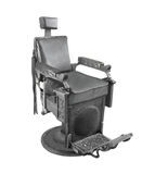Old black chair isolated. Stock Photos