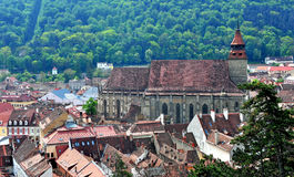 Old Black Church in Brasov town Stock Images