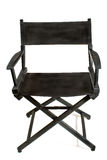 Old black director chair Royalty Free Stock Photo