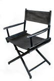 Old black director chair Royalty Free Stock Image