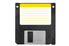Old black diskette Stock Photo