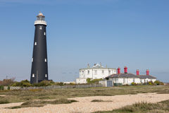 Old black Dungeness Lighthouse Royalty Free Stock Photos