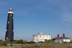 Old black Dungeness Lighthouse Stock Photo