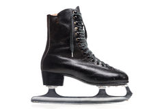 Old Black Figure Ice Skate Stock Photos