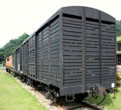 Old Black Freight Cars Stock Images
