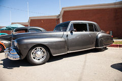 Old black hot rod car. With chrome Royalty Free Stock Photography