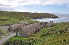 Old Black house village. Lewis, Scotland Royalty Free Stock Image