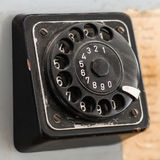 Old black jog dial with numbers Stock Photo
