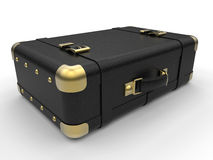 Old Black leather baggage Royalty Free Stock Images