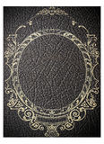old black leather book cover Stock Photos