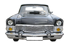 Old black limousine stock photos