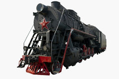 Old black locomotive Stock Photos