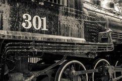 Old black locomotive engine Royalty Free Stock Photography