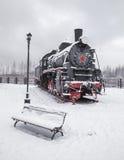 Old black locomotive Royalty Free Stock Images