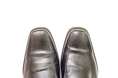Old black man's shoes Stock Image