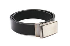Old black men leather belt Royalty Free Stock Photo
