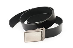 Old black men leather belt Stock Photography