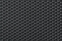 Old black metal background with Holes and dust. Stock Photo