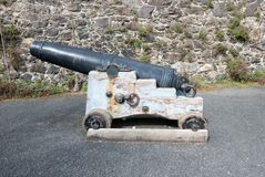 Old historic cannon. Stock Photo