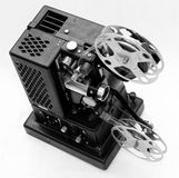 Old black movie projector Royalty Free Stock Image