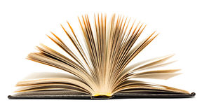 Old black open book Stock Image