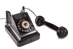 Old black phone. Isolated on white Royalty Free Stock Photo