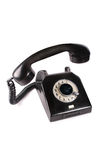 Old black phone. Isolated on white Royalty Free Stock Images