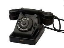 Old black phone Stock Image