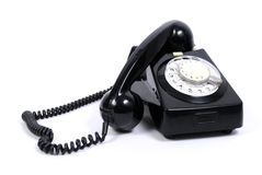 Old black phone Royalty Free Stock Photos
