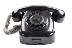 Old black phone Royalty Free Stock Images