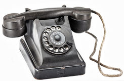 Old black phone Stock Photography