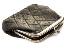 Old black purse Royalty Free Stock Image