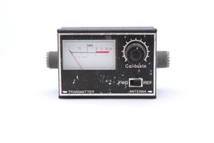 Old black radio transmitter Stock Images