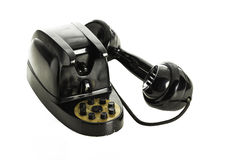 Old black retro telephone Royalty Free Stock Photo