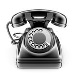 Old black rotary telephone Royalty Free Stock Photo