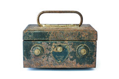 Old black safe box Royalty Free Stock Image