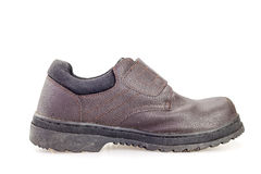 Old black safety shoe for worker Royalty Free Stock Photography