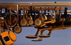 Old  black saxophone Stock Image