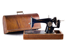 Old black sewing machine Royalty Free Stock Photography