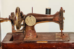 Old black sewing machine for antique or vintage collector. Antique & Vintage Sewing Machines Royalty Free Stock Images