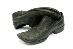 Old black shoes Royalty Free Stock Images